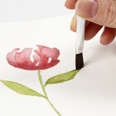 Wie Aquarellmotive mit glatten Pinselstrichen entstehen