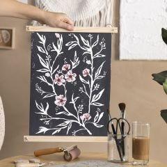 Wandbild, kreiert mit Linoldruck