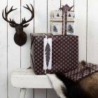 Geschenkaverpackungen mit Federn und Vivi Gade Design-Papier