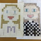 Pixel-Kunst mit Kreuzstichen