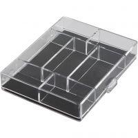 Aufbewahrungsbox, Größe 11,8x9,3x2,2 cm, 100 Stk/ 1 Pck