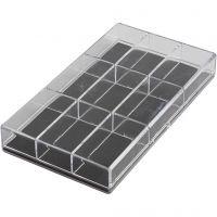 Aufbewahrungsbox, H: 2.4 cm, L: 16.5 cm, B: 9,3 cm, 100 Stk/ 1 Pck