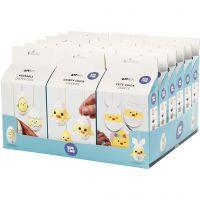 Funny Easter Eggs/Chicken/Family - Bastelsets im Sortiment, 18 Set/ 1 Pck