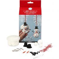 Lustige Schneemänner, 1 Set
