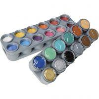 Grimas Gesichtsschminke auf Farbpalette, Sortierte Farben, 24x15 ml/ 1 Pck