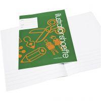 Schulheft mit Raum für Zeichnungen/Bilder, A4, Größe 21x29,7 cm, 32 , 25 Stk/ 1 Pck