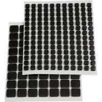 3D Klebepunkte , Größe 5x5x2 mm, Schwarz, 217 sort./ 1 Pck