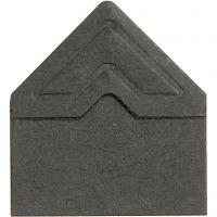 Fotoecken , B: 10 mm, 110 g, Schwarz, 108 Stk/ 1 Pck