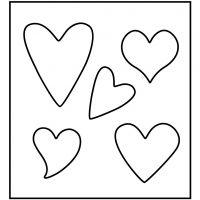 Stanzformen, Herzen, Größe 14x15,25 cm, Dicke 15 mm, 1 Stk