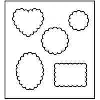 Stanzformen, Formen mit Rändelrand, Größe 14x15,25 cm, Dicke 15 mm, 1 Stk