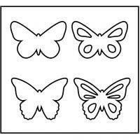 Stanzformen, Schmetterlinge, Größe 14x15,25 cm, Dicke 15 mm, 1 Stk