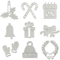 Stanz- und Prägeformen, Weihnachtsmotive, D: 2-6,5 cm, 1 Stk