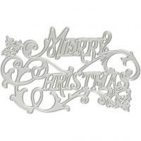 Stanz- und Prägeformen, Frohe Weihnachten, D: 11,5x7,2 cm, 1 Stk