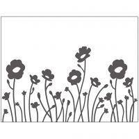 Prägeschablone, Blumen, Größe 11x14 cm, Dicke 2 mm, 1 Stk