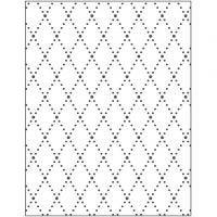 Prägeschablone, Rhomben, Größe 11x14 cm, Dicke 2 mm, 1 Stk