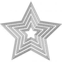 Stanz- und Prägeformen, Sterne, D: 3,5-11,5 cm, 1 Stk