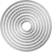 Stanz- und Prägeformen, Kreise, D: 1,5-7 cm, 1 Stk