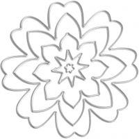Stanzschablone, Blüten, D: 0,5-8 cm, 1 Stk