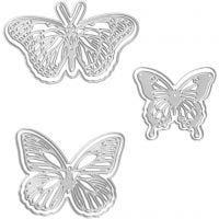 Stanz- und Prägeformen, Schmetterlinge, Größe 5x4,5+6,5x5+8x4,5 cm, 1 Stk