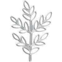 Stanzschablone, Zweig, Größe 4,4x6,5 cm, 1 Stk
