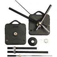 Mechanisches Uhrwerk, Plattenstärke max. 6mm, Schwarz, 1 Set