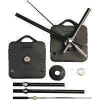Mechanisches Uhrwerk, Plattenstärke max. 10mm, Schwarz, 1 Set