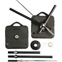 Mechanisches Uhrwerk, Plattenstärke max. 3mm, Schwarz, 1 Set