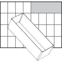 Einsetz-Box, Nr. A8-2, H: 47 mm, Größe 157x55 mm, 1 Stk