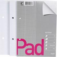 Schreibpapierblock, kariert, A5, 150x210 mm, 60 g, 5 Stk/ 1 Pck