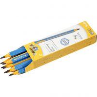Kinder-Bleistift, L: 14 cm, Dicke 10 mm, Mine 4 mm, 12 Stk/ 1 Pck
