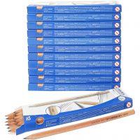 Bleistift, L: 18 cm, Stärke HB, Dicke 7 mm, Mine 2 mm, 12x12 Stk/ 1 Pck