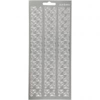 Sticker, Ecken, 10x23 cm, Silber, 1 Bl.