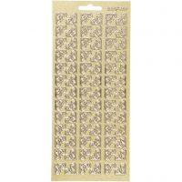 Sticker, Ecken, 10x23 cm, Gold, 1 Bl.