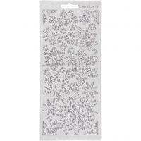 Sticker, Schneeflocken, 10x23 cm, Silber, 1 Bl.