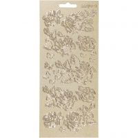 Sticker, Rosen, 10x23 cm, Gold, 1 Bl.