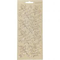 Sticker, Blätter, 10x23 cm, Gold, 1 Bl.