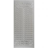 Sticker, 10x23 cm, Silber, 1 Bl.