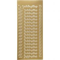 Sticker, 10x23 cm, Gold, 1 Bl.
