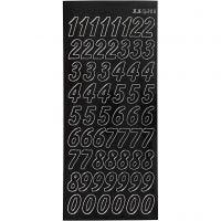 Sticker, Große Zahlen, 10x23 cm, Schwarz, 1 Bl.