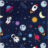 Geschenkpapier, Astronauten im All, B: 57 cm, 80 g, 150 m/ 1 Rolle