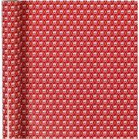 Geschenkpapier, Trommel, B: 70 cm, 80 g, Rot, Weiß, 4 m/ 1 Rolle