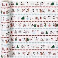 Geschenkpapier, Spaß am Nordpol, B: 70 cm, 80 g, 4 m/ 1 Rolle