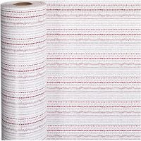 Geschenkpapier, Kritzeleien, B: 57 cm, 80 g, Rot, Weiß, 150 m/ 1 Rolle