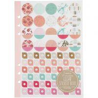 Sticker-Buch, Wasserfarben, A5, Gold, Rot, Korallen, 1 Stk/ 1 Pck