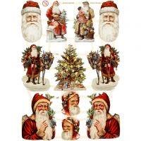Vintage-Glanzbilder, Weihnachten, 16,5x23,5 cm, 3 Bl./ 1 Pck