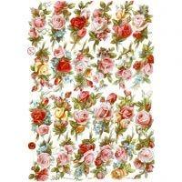 Vintage-Glanzbilder, Rosen-Bouquets, 16,5x23,5 cm, 3 Bl./ 1 Pck