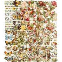 Vintage-Glanzbilder, Das ganze Jahr über, 16,5x23,5 cm, 10x3 Bl./ 1 Pck
