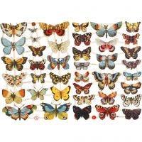Vintage-Glanzbilder, Schmetterlinge, 16,5x23,5 cm, 2 Bl./ 1 Pck