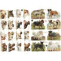 Vintage-Glanzbilder, Hunde, 16,5x23,5 cm, 2 Bl./ 1 Pck