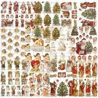 Vintage-Glanzbilder, Weihnachten, 16,5x23,5 cm, 30 Bl./ 1 Pck